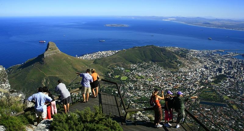 Pontos turísticos na Cidade do Cabo