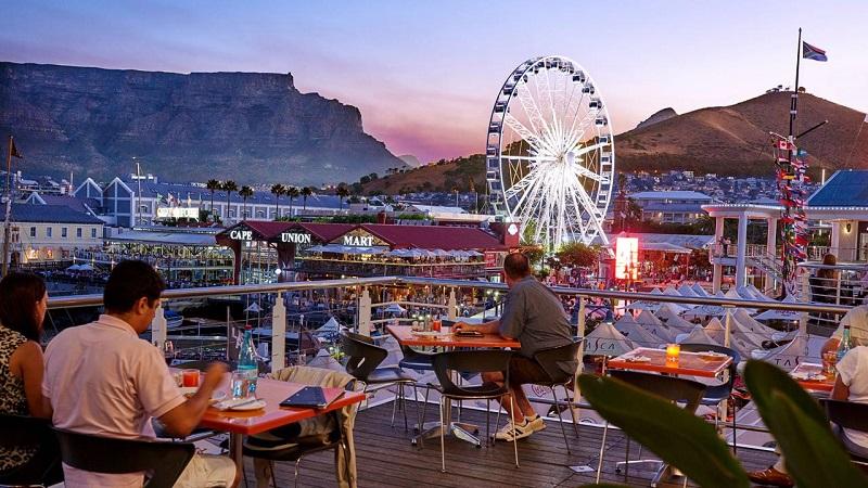 Região dos principais e melhores restaurantes da Cidade do Cabo: Waterfront