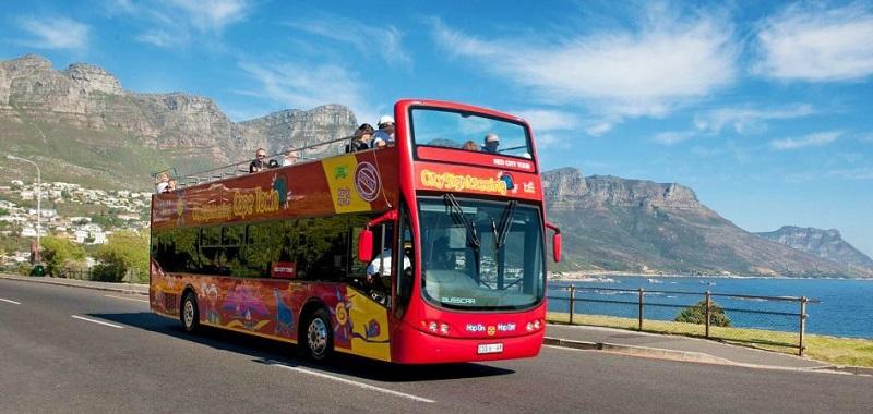 Passeio de ônibus turístico na Cidade do Cabo