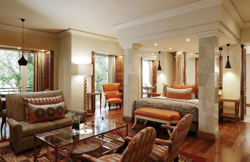 Quarto do Saxon Hotel, Villas & Spa em Joanesburgo