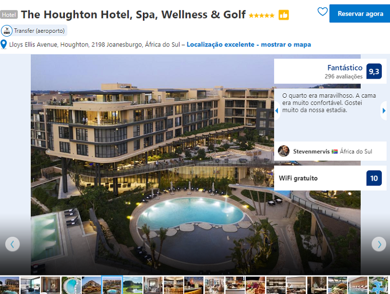 Fachada do The Houghton Hotel, Spa, Welness & Golf em Joanesburgo