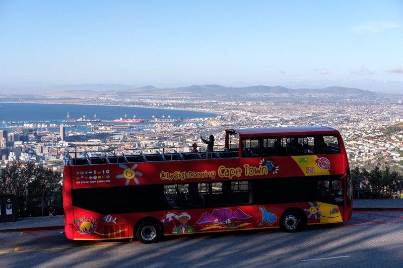 Ônibus turístico da Cidade do Cabo