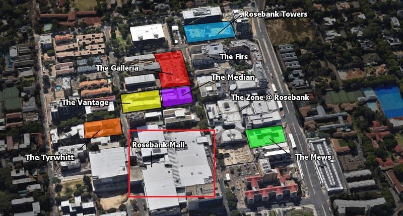 Mapa - Rosebank Mall