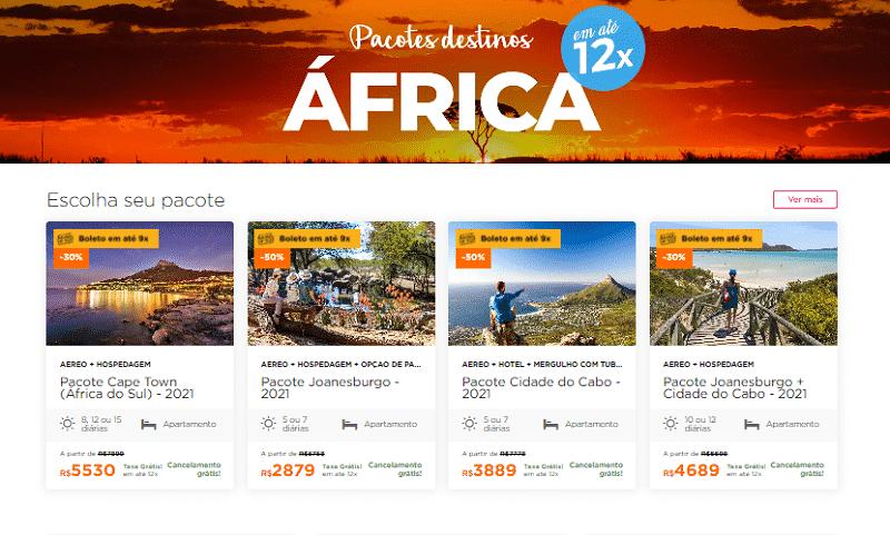 Pacotes destinos África do Sul - Hurb